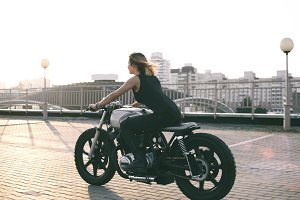 Biker Woman on motorcycle