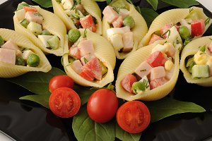 Sea shells pasta stuffed
