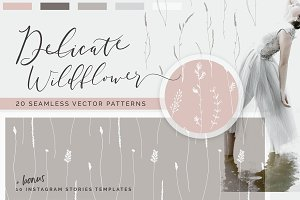 Wildflower Patterns + Templates Set