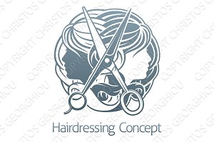 Hair Salon Stylist Hairdresser Icon