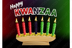 Happy Kwanzaa Candles Design