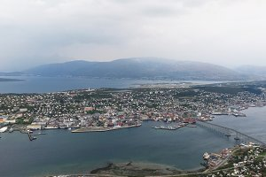 From above the City of Tromso
