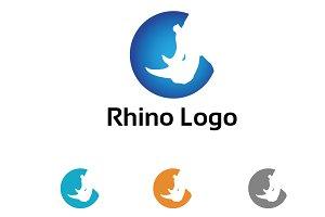 Rhino Rhinoceros Head Logo Symbol