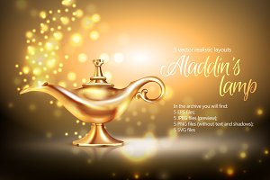 Sale! Aladdin's Lamp Realistic Set