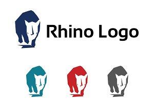 Rhino Rhinoceros Polygon Logo Symbol