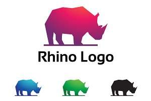 Rhino Rhinoceros Polygon Low Poly