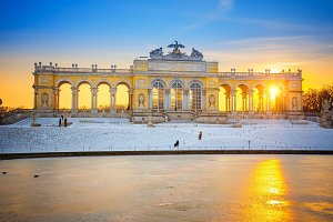 The Gloriette in the Schonbrunn Palace, Vienna
