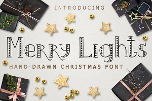 MERRY LIGHTS - Christmas font