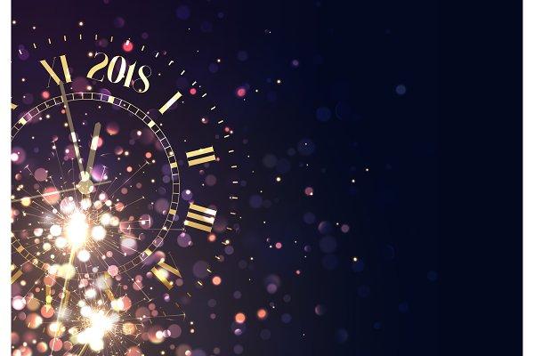 2018 New Year background vintage