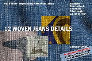 Woven Jeans Bundle, Yarn & Color