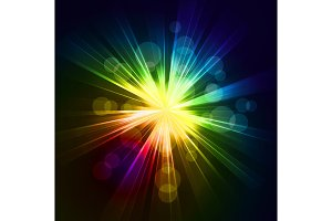 Abstract  starburst light background