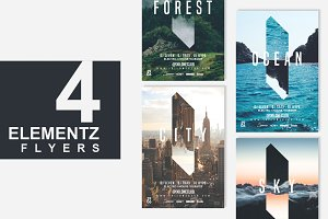 4in1 ELEMENTS Flyer Template