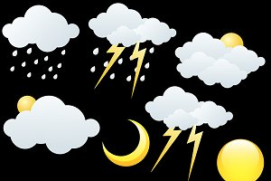 Weather Icons Vector Elements