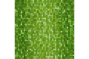 Vector green mosaic background