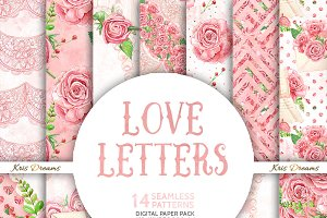 Love Letter Digital Paper