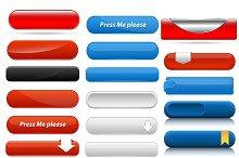 Web Buttons Sets Vectors