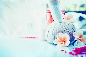 Spa or wellness with frangipani