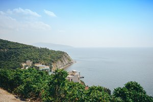 Coast of the black sea. Dagomys. Russia