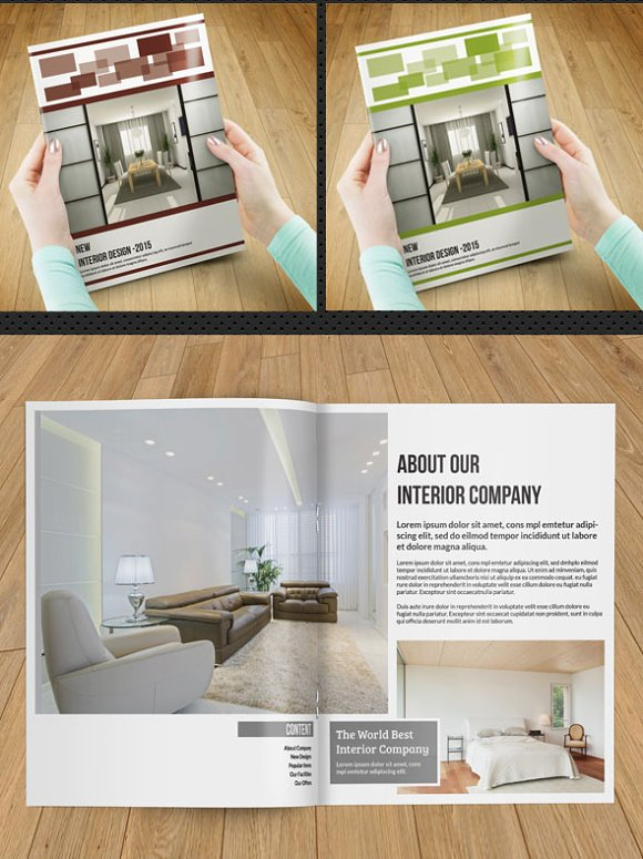 InDesignInterior Brochure 12pageV87 Templates Creative Market