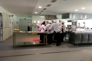 Students in the cooking school