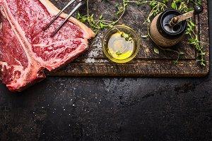 T-bone steak for grill or frying