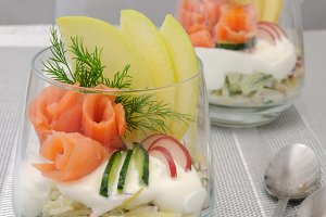 Verrin with smoked salmon