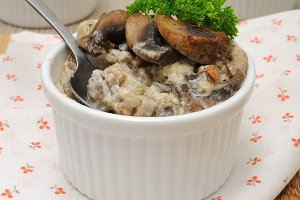 Mushrooms in a creamy sauce