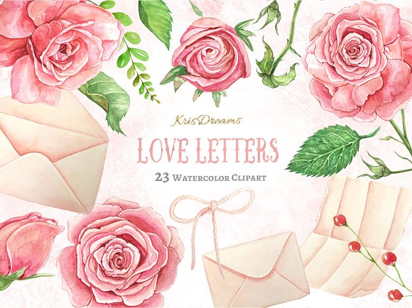 Love Letter Clipart-Graphicriver中文最全的素材分享平台