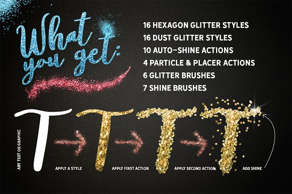 GLITTER PRO Styles, Actions, Brushes