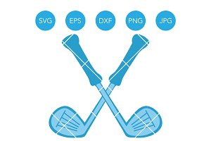 Golf Club SVG EPS DXF PNG JPG Vector