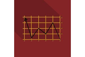 Schedule chart on table vector. Economic visualization information, business report graph illustration