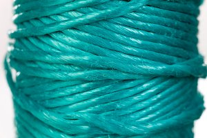 Skein of green rope
