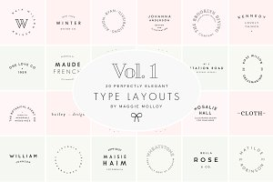 Type Layouts Vol. 1 Text Based Logos