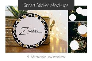 Smart Art Sticker Mockups Circles