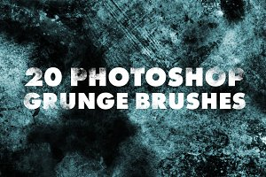 20 High Resolution Grunge Brushes