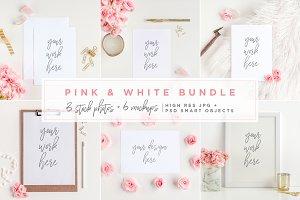 Pink & White Bundle - Mockups