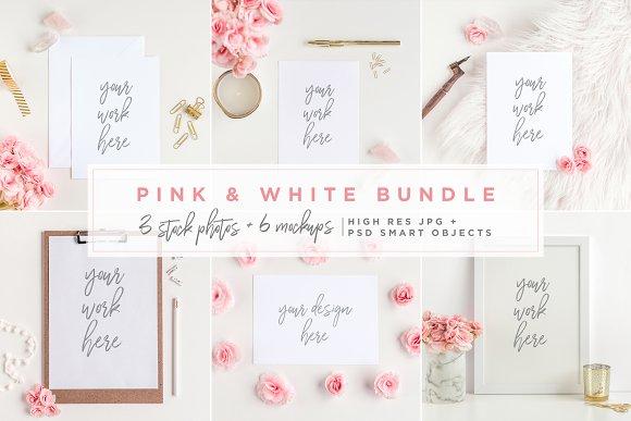 Download Pink & White Bundle - Mockups