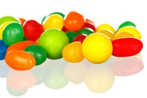 Colorful jelly beans