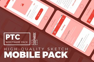 PTC Wireframe Pack - Mobile