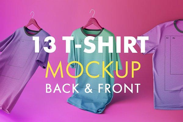 T Shirt Mockup Photoshop Template