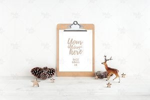 Christmas clipboard mockup #7878