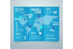 Realistic Leaflet Booklet. Vector