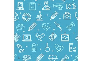 Medicine Pattern Background