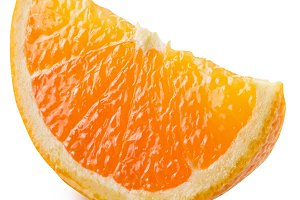 Segment of an orange fruit.