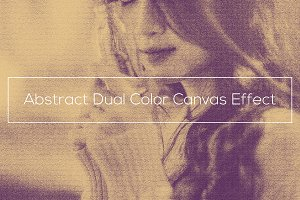Abstract Dual Color Canvas Effect
