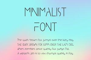 Minimalist Typeface. A Minimal Font
