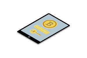 Bitcoin wallet app on tablet PC