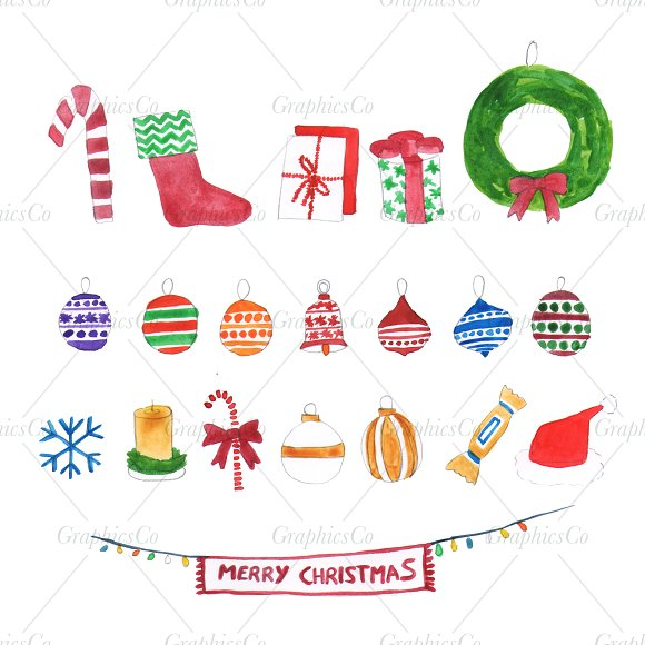 christmas clipart png custom designed illustrations creative market creative market