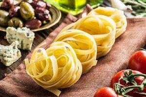 Pasta ingredients.