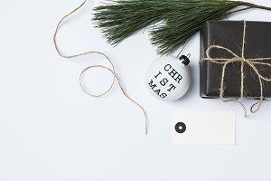 Scandi XMas | Gift Tag Mockup